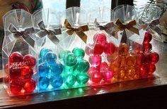 Bath oil balls.
