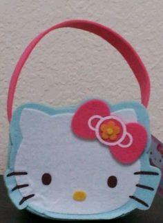 Hello Kitty Small Felt Easter Basket