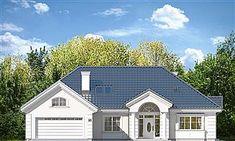Projekt domu Willa Parkowa 4 165,77 m2 - koszt budowy - EXTRADOM Beautiful House Plans, Beautiful Homes, Bungalow, House Outside Design, Civil Construction, Precast Concrete, Cottage Plan, Model Homes, Modern House Design