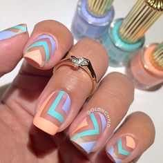 Design Nail Art Looks So Pretty 2019 - style you 7 Spring Nail Art, Spring Nails, Summer Nails, Get Nails, Love Nails, How To Do Nails, Fabulous Nails, Gorgeous Nails, Nail Art Designs