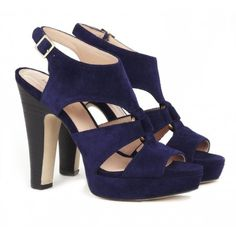 "Peep toe heels - ""Evelyn"" in Midnight, $59.95 at Sole Society Shoes. I might need these (I desperately need some new blue heals!) but I'm not really digging the black heal on this pair."