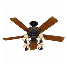 Hunter 52-in Adirondack Brittany Bronze Ceiling Fan at Lowe's Canada