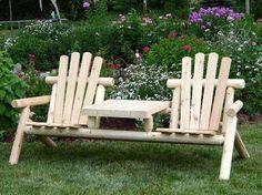 Скамейка со стульями фото #1