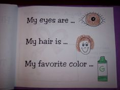 All about me book project. This would be adorable after reading a children's level biography.