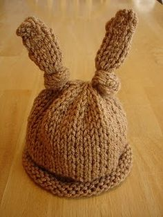 knit rabbit hat pattern free