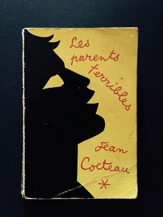 Jean Cocteau vintage book cover found at the dump