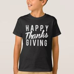 Nice Happy Thanks Giving Print T-Shirt - thanksgiving tshirts custom unique happy thanksgiving holiday celebrate