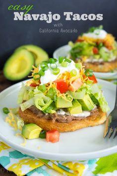 Easy Navajo Tacos with California Avocado @Shawn O Syphus