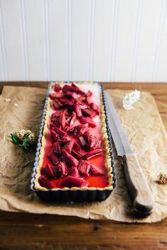 Rhubarb Panna Cotta Tart