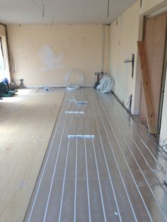 Skirting Board Heating Installed On The Side Of Some