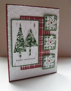 SC359 Christmas Trees and Snowflakes by nancy littrell - Cards and Paper Crafts at Splitcoaststampers