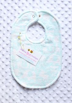 Light Blue Jungle Animal Bib // Gender Neutral Bib // Baby Girl Bib // Baby Boy Bib // Elephant Bib // Toddler Bib