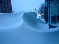 The blizzard of 2015 left huge snow drifts in downtown Bath, Maine Bath Maine, Winter Scenery, Winter Beauty, Winter Snow, New Hampshire, Wonders Of The World, Winter Wonderland, Cool Pictures, Snowy Pictures