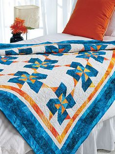 Quilting - Bed Quilt Patterns - Pieced Quilt Patterns - Tropical Punch