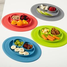 Mini Lime Happy Mat | The Land of Nod Baby can't throw this plate - it suctions to the table!