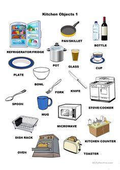43 Best Kitchen English Vocabulary Images English