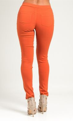 Love Tree Rust Ponte Pants