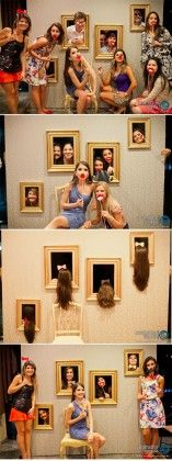 unique wedding photo booth wall