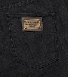 DOLCE GABBANA  14 GREEN  Classic Straight Leg Metal Plate Black Jeans NEW  NWT cba2263ea188