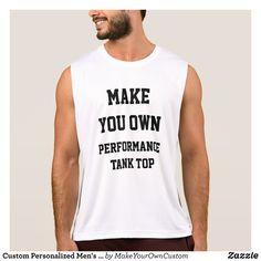 Custom Personalized Men's PERFORMANCE TANK TOP - Comfy Moisture-Wicking Sport Tank Tops By Talented Fashion & Graphic Designers - #tanktops #gym #exercise #workout #mensfashion #apparel #shopping #bargain #sale #outfit #stylish #cool #graphicdesign #trendy #fashion #design #fashiondesign #designer #fashiondesigner #style