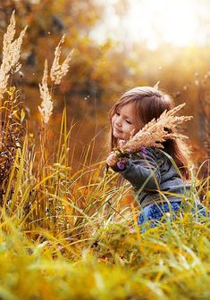 Little girl playing in the hay****FOLLOW OUR UNIQUE GARDENING BOARDS AT www.pinterest.com/earthwormtec*****FOLLOW us on www.facebook.com/earthwormtec & www.google.com/+earthwormtechnologies for great organic gardening tips #children #garden #farm