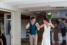 Bride and Groom enter the venue @ Bon Amis, Durbanville