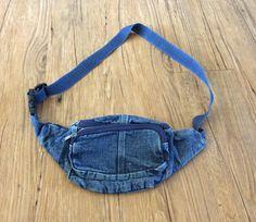 Denim Fanny Pack Fanny Pack Purse Bag Festival Bum Bag Waist Bag Cute Vintage 80s 90s by GoodLuxeVintage on Etsy