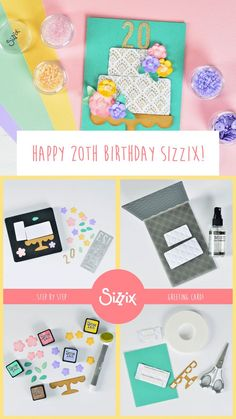 We are celebrating our 20th birthday this month and what better way to celebrate than creating a festive card in celebration of this exciting milestone. 🎂🎉 Click the link for a step-by-step tutorial to create this colorful greeting card that can be customized for any milestone that you may be celebrating. #GoFourthAndCreate #sizzix #mymakingstory #craft #papercraft