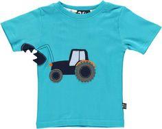 Ubang Jungen T-Shirt Traktor türkis Grösse 12 Monate