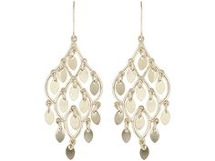 We are in love with these gorgeous chandelier earrings...almost as much as we love fall! - 10k Yellow Gold Filigree Chandelier Earrings