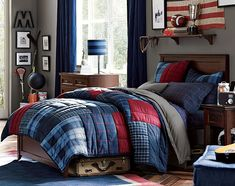 My all American teen deserves and all America room! Teenage Guys Bedroom Ideas | Basketball Lover | PBteen