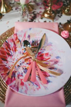 fun bridal shower place settings // photo by Krista Leigh Hurst // styling by Belovely Inc