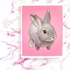 Rabbit Nursery Art Print, Bunny Nursery Art, Baby Girl Nursery Art, Baby Nursery Decor, Baby Girl Gift, Rex Rabbit, Girl Nursery Wall Art, Baby Shower Gift