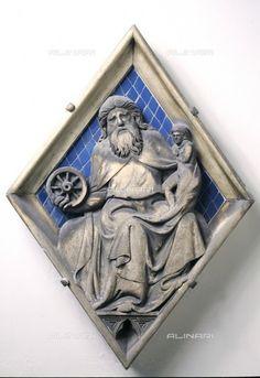 Campanile di Giotto - Bottega di Andrea Pisano - Losanga dei Pianeti: Saturno - 1350 ca. - Museo dell'Opera di Santa Maria del Fiore, Firenze