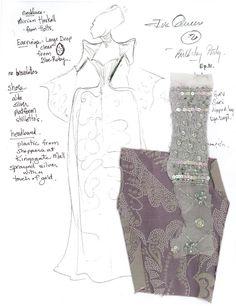 Original sketch for Once Upon A Time Evil Queen costume - Eduardo Castro