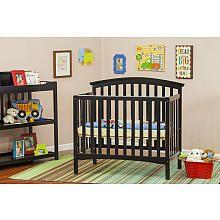 Dream On Me Eden 4-in-1 Convertible Mini Crib - Black