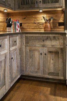 Barn Wood Interiors | Old barn wood cabinets. | Home Decor & Organization.