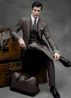 Moda masculina, preciso de um terno desses pra vir trabalhar. chique no último.