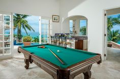 Cabo San Lucas, Mexico Spanish colonial style game room and bar