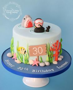 Diving Cake by The Clever Little Cupcake Company