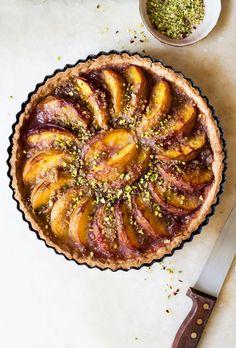 vegan peach tart whole