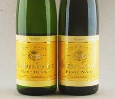 Duo Gustave Lorentz: Pinot Blanc e Pinot Noir #vinho #pinotblanc #pinotnoir #vinhofrances #alsace #desconto