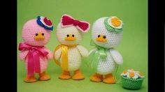 Manualidades a crochet Pollitos