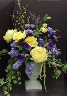 Spring purple and yellow in urn 2017 by andrea michaels custom spring 2017 by randi sheldon at michaels 1600 mightylinksfo Images