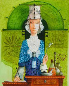By Merab Gagiladze Illustrations, Illustration Art, Ecole Art, Post Impressionism, Art Graphique, Art And Architecture, All Art, Modern Art, Sketches