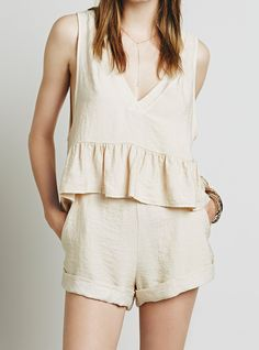 Free People Simply Lovely Set at Free People Clothing Boutique Cute Sleepwear, Sleepwear Women, Loungewear, Cute Summer Dresses, Summer Outfits, Cute Outfits, Style Casual, Casual Chic, Look Fashion