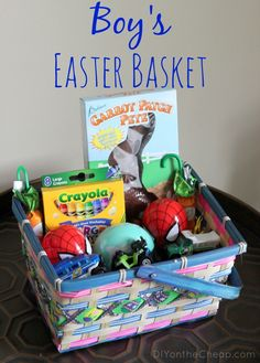 Boy's Easter Basket Ideas