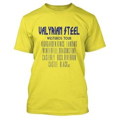 Valyrian Steel Tour Of Westeros T Shirt, MORE T VICAR