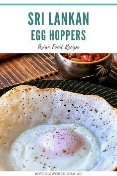 Sri Lankan Egg Hoppers Recipe. Are you looking for a creative and fun food recipe? Find out how to make egg hoppers. I dinner recipes I recipes to try I food I what to cook I international recipes I dishes to make I dishes to cook I meal ideas I meals to cook I international meal ideas I what to cook for dinner I Asian food recipes I creative recipes I Sri Lankan recipes I #recipes #food Asian Recipes, My Recipes, Dinner Recipes, Favorite Recipes, Fun Food, Good Food, Egg Recipes For Breakfast, Breakfast Ideas, How To Make Eggs