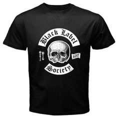 Funny T-Shirts (Black Label Society) Great Gift Ideas for Adults, Men, Boys, Youth, & Teens, Collectible Novelty Shirts - Large - Black BaBaLy